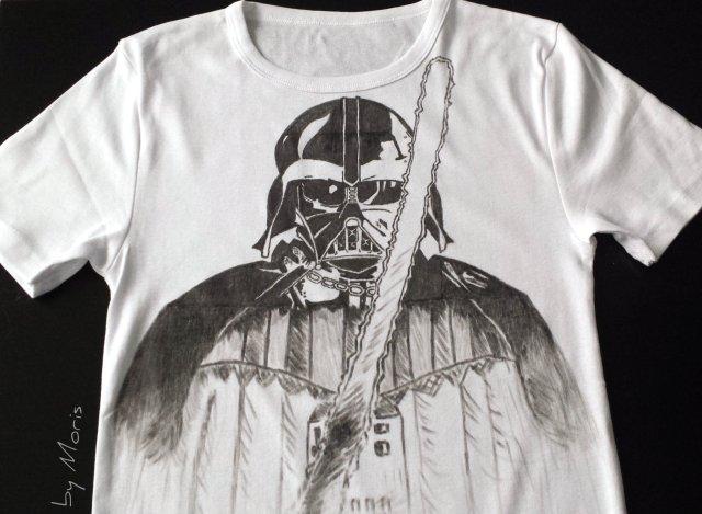Koszulka z rysunkiem, rękodzieło
